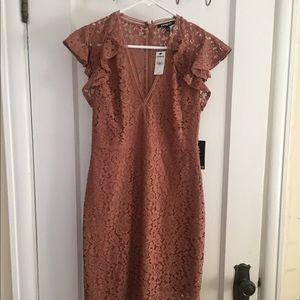 Blush Knee-Length Dress